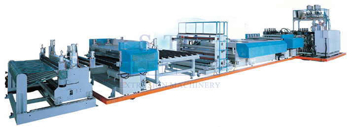 130 PC Hollow Profile Sheet Co-extrusion Line