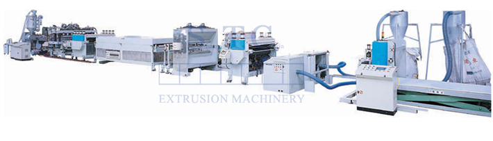 168 PP Hollow Profile Sheet Extrusion Line