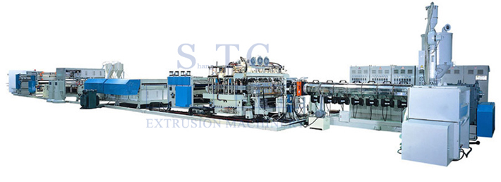 281 PP Hollow Profile Sheet Extrusion Line