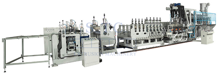 288 PC Corrugated Sheet Co-Extrusion Line
