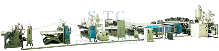 291 PP Hollow Profile Sheet Extrusion Line