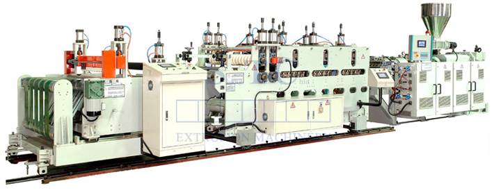 323  PVC Corrugated Sheet Extrusion Line