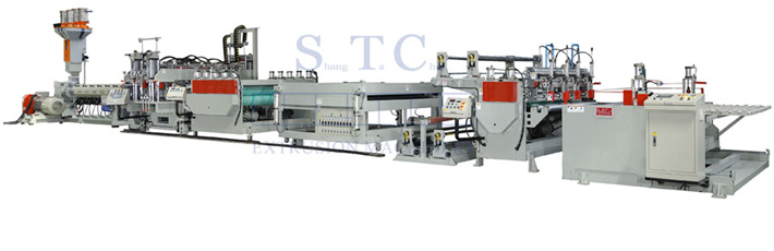 386 PC Hollow Profile Sheet Extrusion Line
