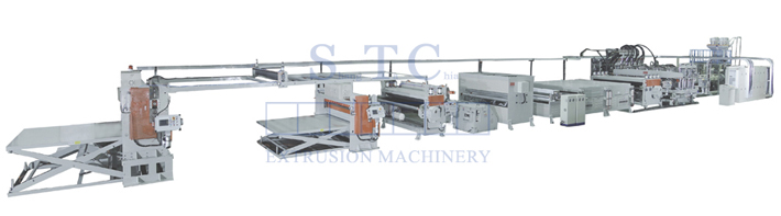 502 PP Hollow Profile Sheet Extrusion Line